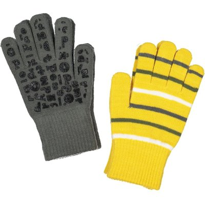 Polarn O. Pyret Kids Two Pack Magic Gloves, Yellow