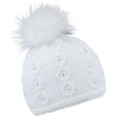 Sabbot Cable Stripe Knit Beanie, White