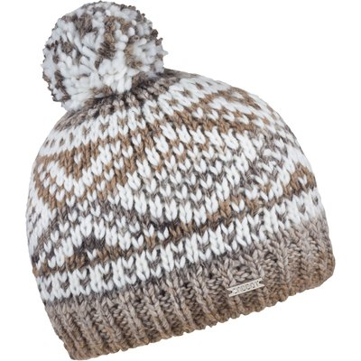 Sabbot Pattern Knit Beanie, White