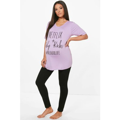 Lily Netflix & Baby Kicks PJ Set - lilac