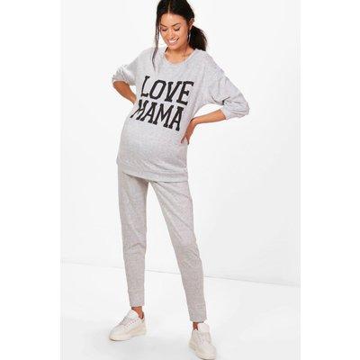 Mia Love Mama Top  Lounge Jogger Set - grey