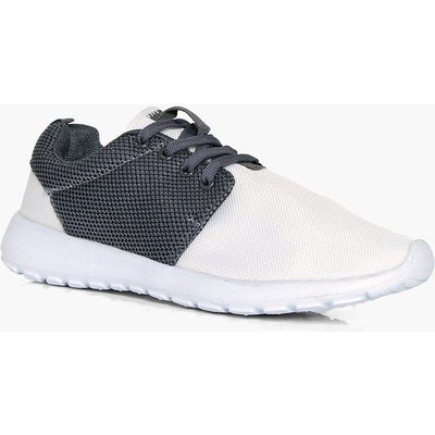 Lace Up Sports Trainer - white