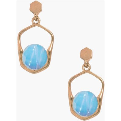 Moonstone Holographic Earrings - gold
