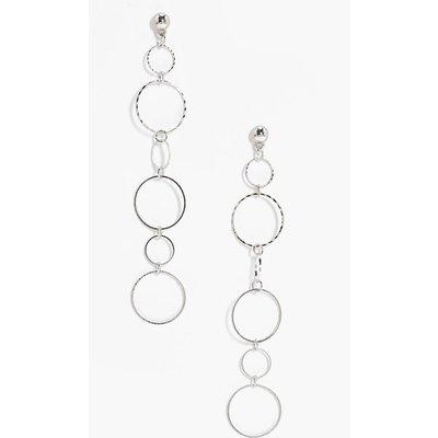 Multi Layered Hoop Earrings - silver