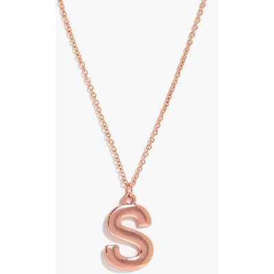 Gold S Initial Charm Necklace - gold