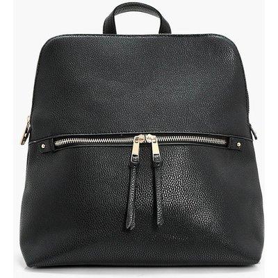 Zip Pocket Rucksack - black