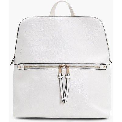 Zip Pocket Rucksack - white