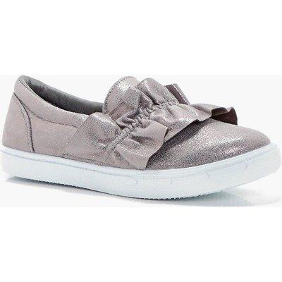 Ruffle Detail Skater - grey