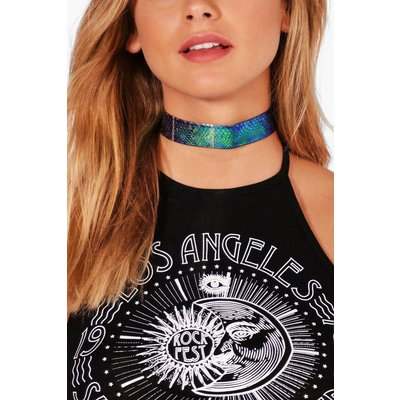 Holographic Mermaid Effect Choker - green
