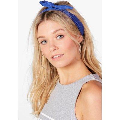 Bend Tie Headscarf - cobalt