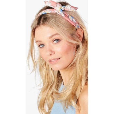 Floral Bend Tie Headscarf - peach