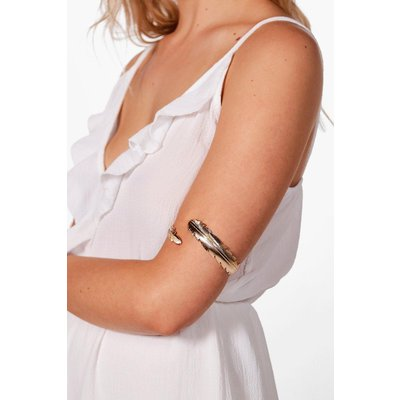 Feather Leaf Arm Cuff - gold