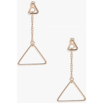 Double Triangle Earrings - gold