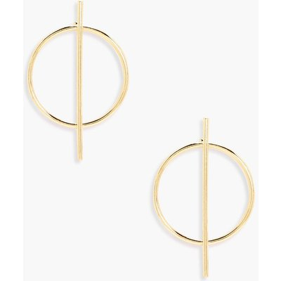 Hoop Bar Earrings - gold