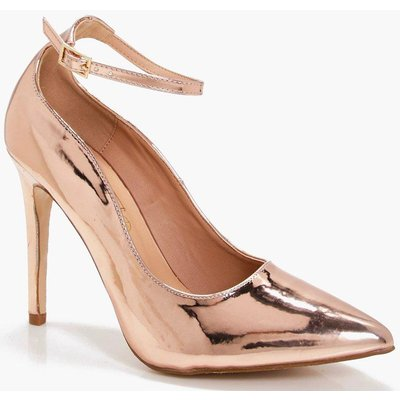 Pointed Toe Ankle Band Courts - rose gold