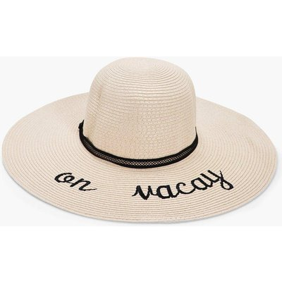 On Vacay Straw Floppy Hat - cream