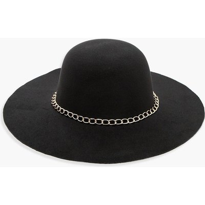 Chain Floppy Hat - black