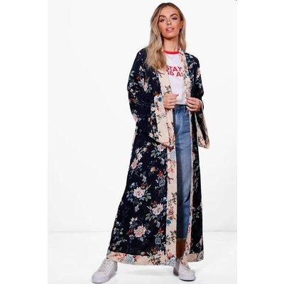 Belted Premium Kimono - navy