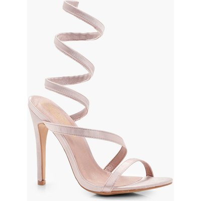 Sprial Strap Sandals - nude