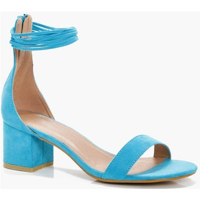 Multi Ankle Band Block Heels - turquoise