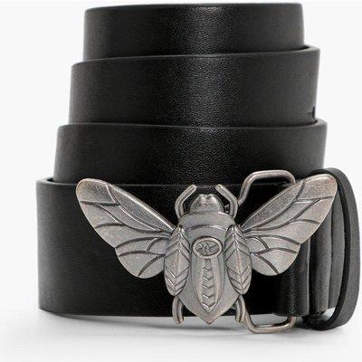 Bug Buckle Boyfriend Belt - black