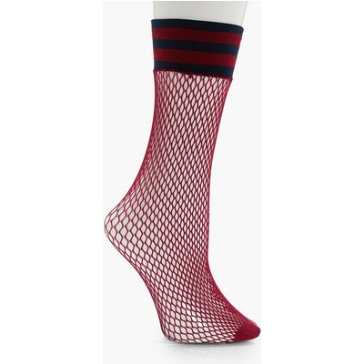 Sports Trim Fishnet Socks - navy