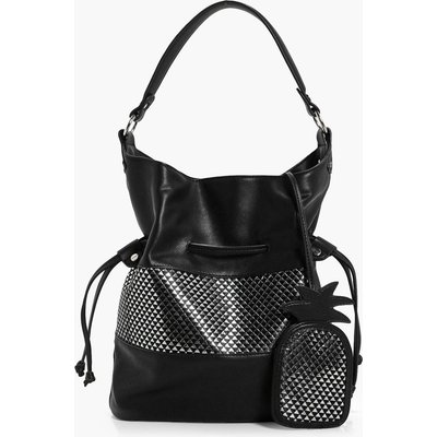Tag Metallic Hobo - black