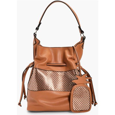 Tag Metallic Hobo - camel