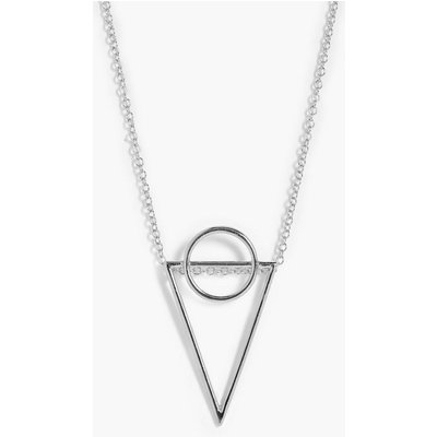 Geo Pendant Necklace - silver