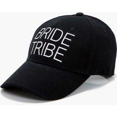 Bride Tribe Slogan Hat - black