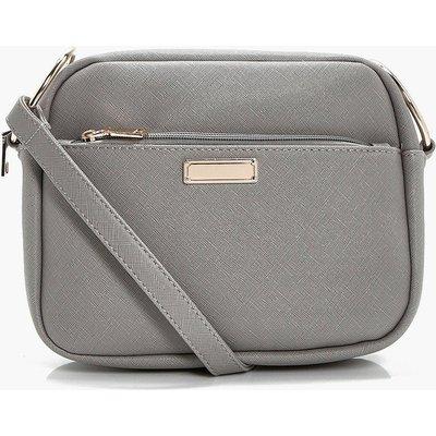 Crosshatch Camera Bag - grey