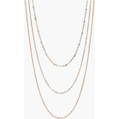 Simple Chain Layered Necklace - gold