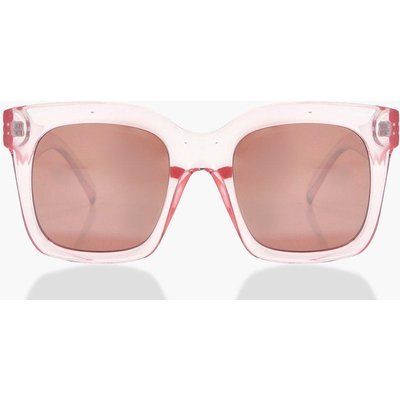 Oversized Plastic Frame Sunglasses - pink
