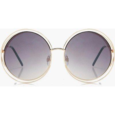 Ombre Revo Lens Round Sunglasses - blue