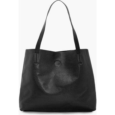 Crosshatch Popper Shopper - black