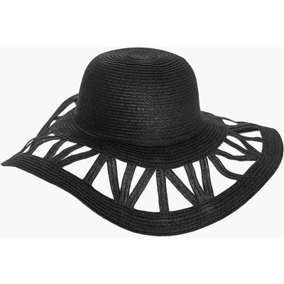 Cutout Floppy Hat - black