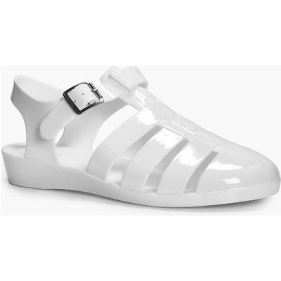Wedge Fisherman Jelly - white