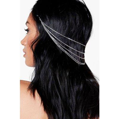 Multi Row Hairchain - silver