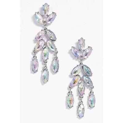 Statement Diamante Earring - white