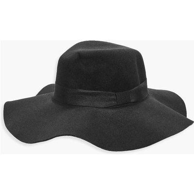 Felt Floppy Hat - black