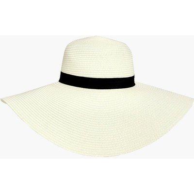 Straw Floppy Hat - white
