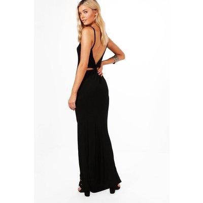 Knot Back Maxi Dress - black