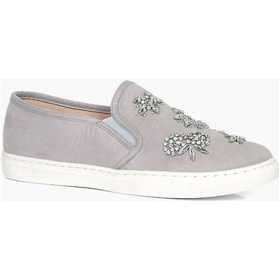 Embellished Skater - grey