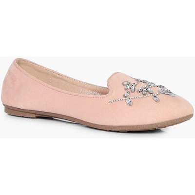 Embellished Slipper Ballet - blush