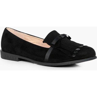 Fringe Detail Loafer - black