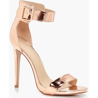 2 Part Heel With Buckle Detail - rose gold