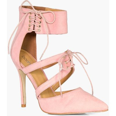 Ankle Detail Wrap Up Court - blush