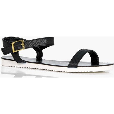 2 Part Cleated Sandal - black