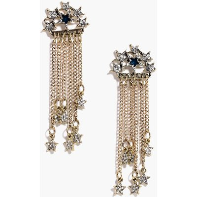 Boutique Diamante Star Earrings - gold