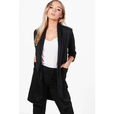 Shawl Collar Ponte Duster - black